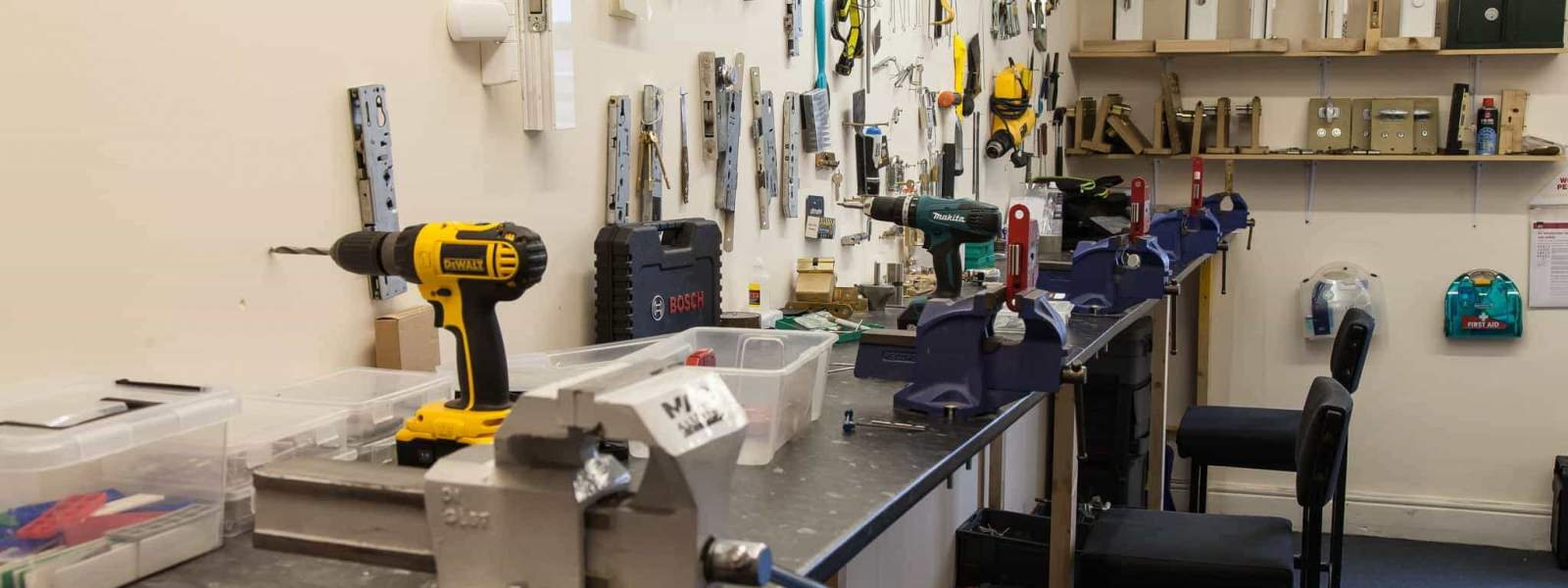 Locksmith Tools & Training Bench