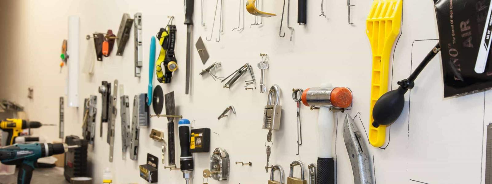 Locksmith Tools On Wall 2