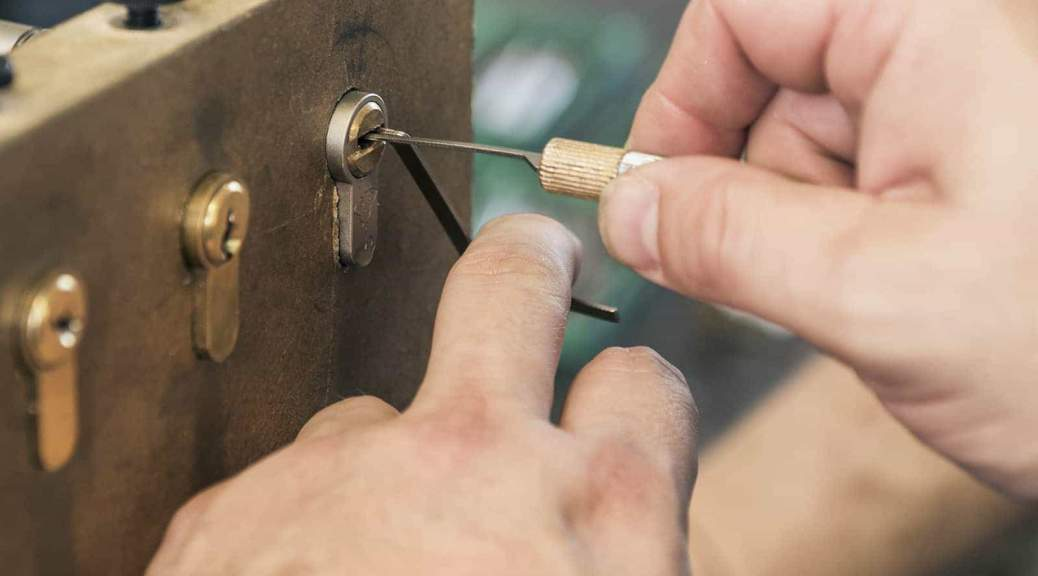 Close-Up Of Lock Picking