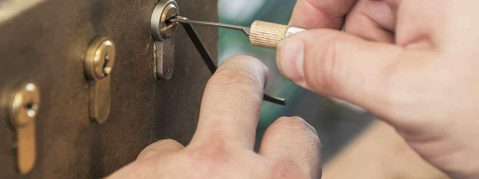 Close-Up Of Lock Picking