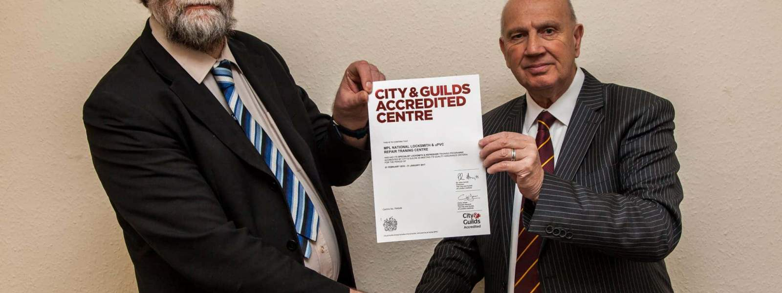City & Guilds Accredited Centre Certificate Presentation