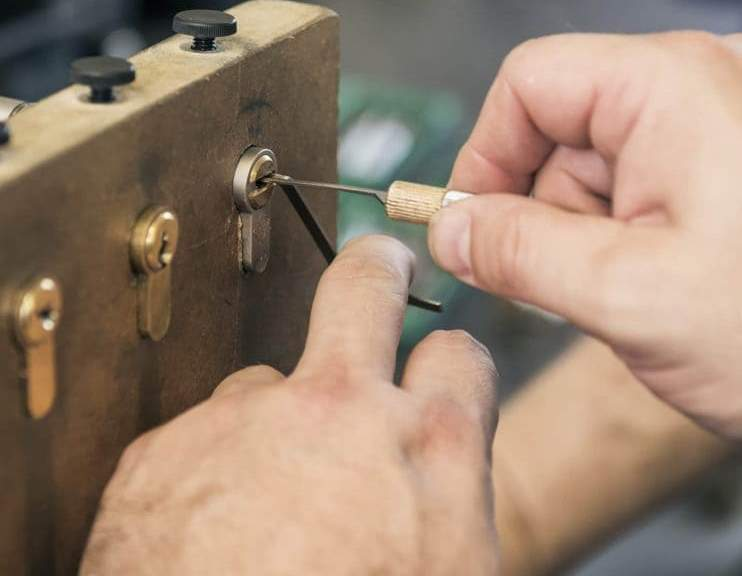 Close-Up Of Lock-Picking Demonstration